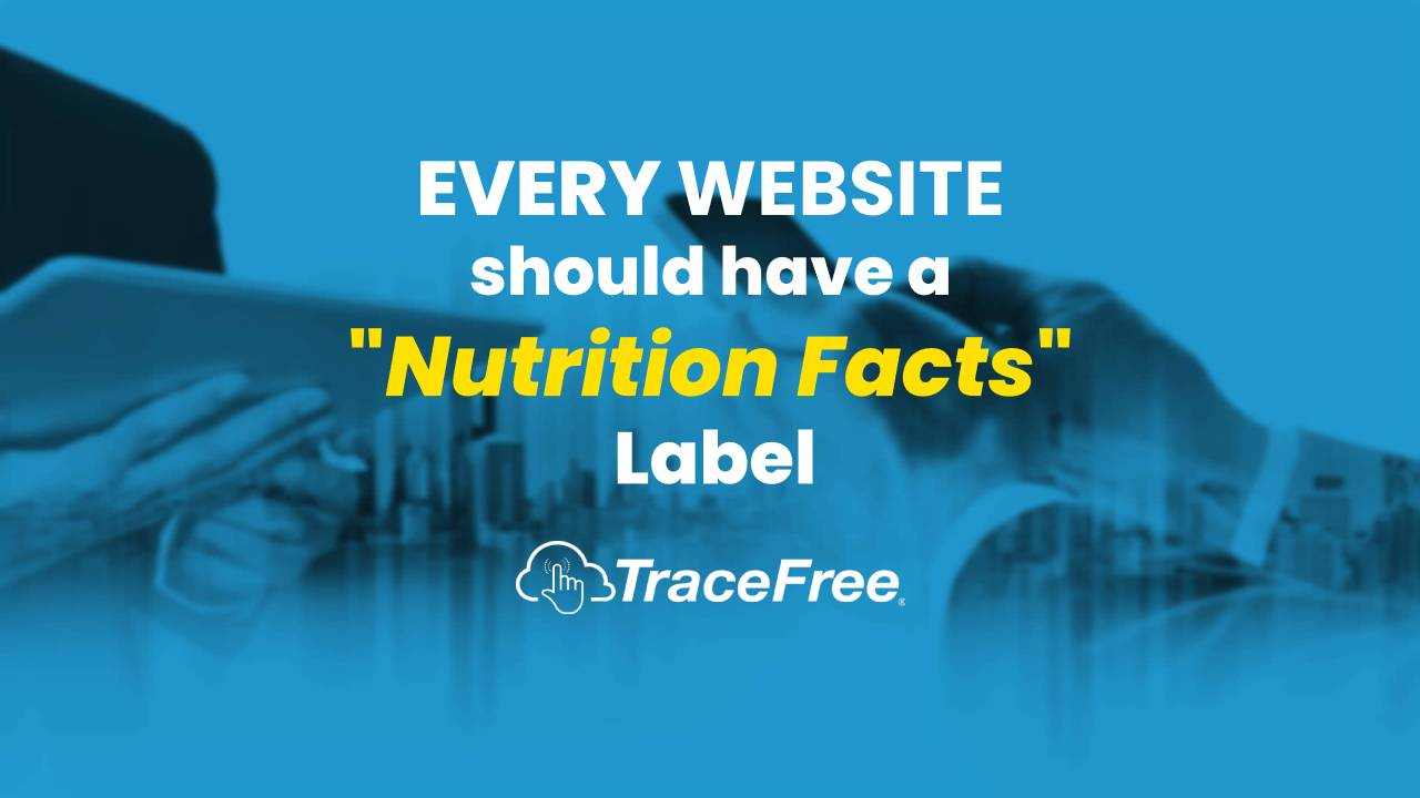 EVERY Website Should Have A Nutrition Facts Label