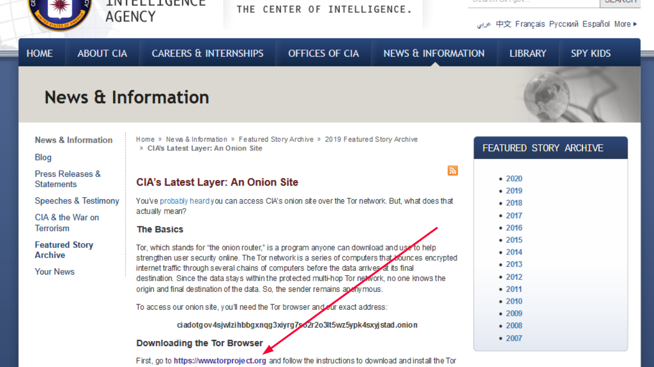 CIA Tor browser