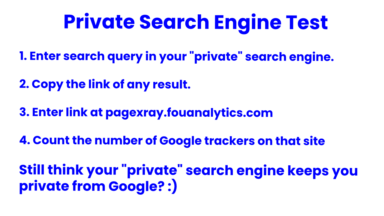 Private Search Engine Test